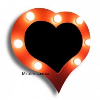"""Зеркало в форме сердца """"Янтарь"""""""