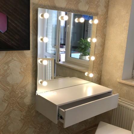 Тумба с зеркалом Пинк Ширина 70см  - картинка