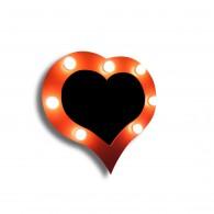 Зеркало в форме сердца Янтарь